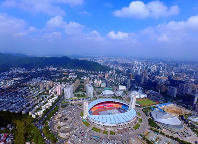 The Yellow Dragon stadium in Hangzhou will be the main venue for the 2022 Asian Games (AFP Photo/)