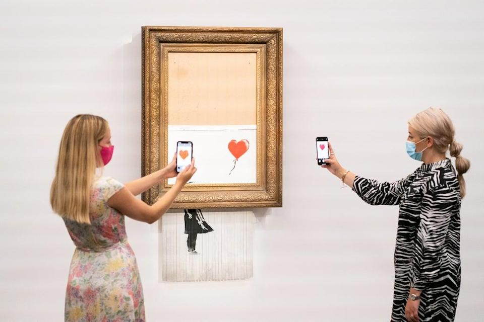 Banksy's Love Is In The Bin, which self-shredded immediately after it was sold at auction is up for sale again (PA Wire)