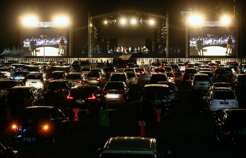 Indonesia drive-in concert delivers live music as coronavirus rages