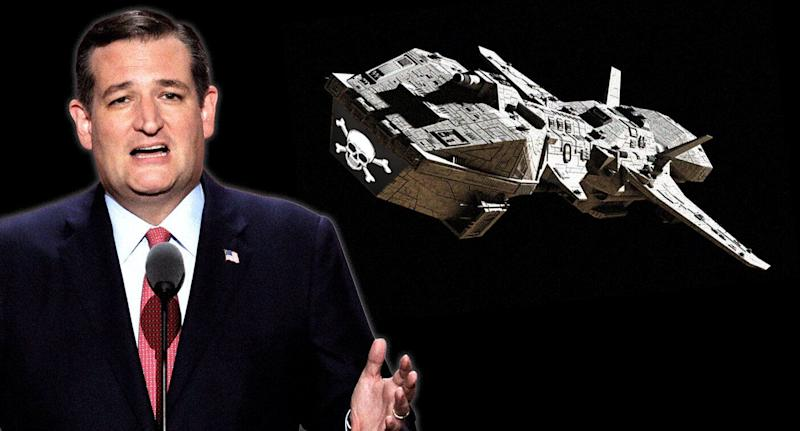 Sen. Ted Cruz and space pirates. (Photo illustration: Yahoo News, photos: AP, Getty Images [2])