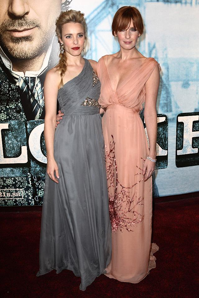 "<a href=""http://movies.yahoo.com/movie/contributor/1807791956"">Rachel McAdams</a> and <a href=""http://movies.yahoo.com/movie/contributor/1800252123"">Kelly Reilly</a> at the London premiere of <a href=""http://movies.yahoo.com/movie/1810045845/info"">Sherlock Holmes</a> - 12/14/2009"