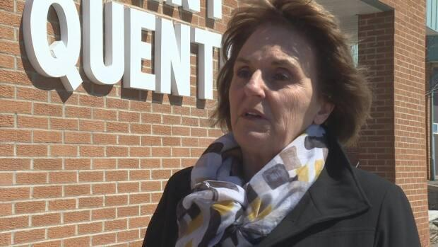 Nicole Somers, mayor of Saint Quentin, said she was surprised to hear only 40 per cent of hospital workers at the Hôtel-Dieu Saint-Joseph de Saint-Quentin had been fully vaccinated. (Shane Fowler/CBC - image credit)