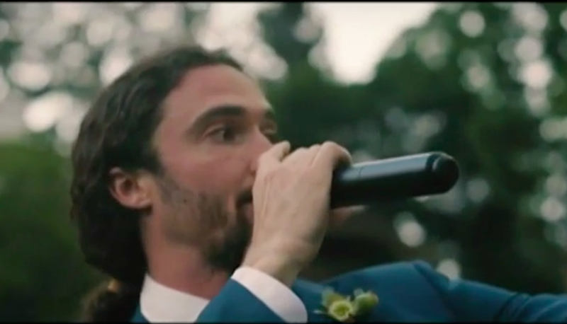 Musician Luke used the song he wrote to propose to Kathleen. Photo: Youtube