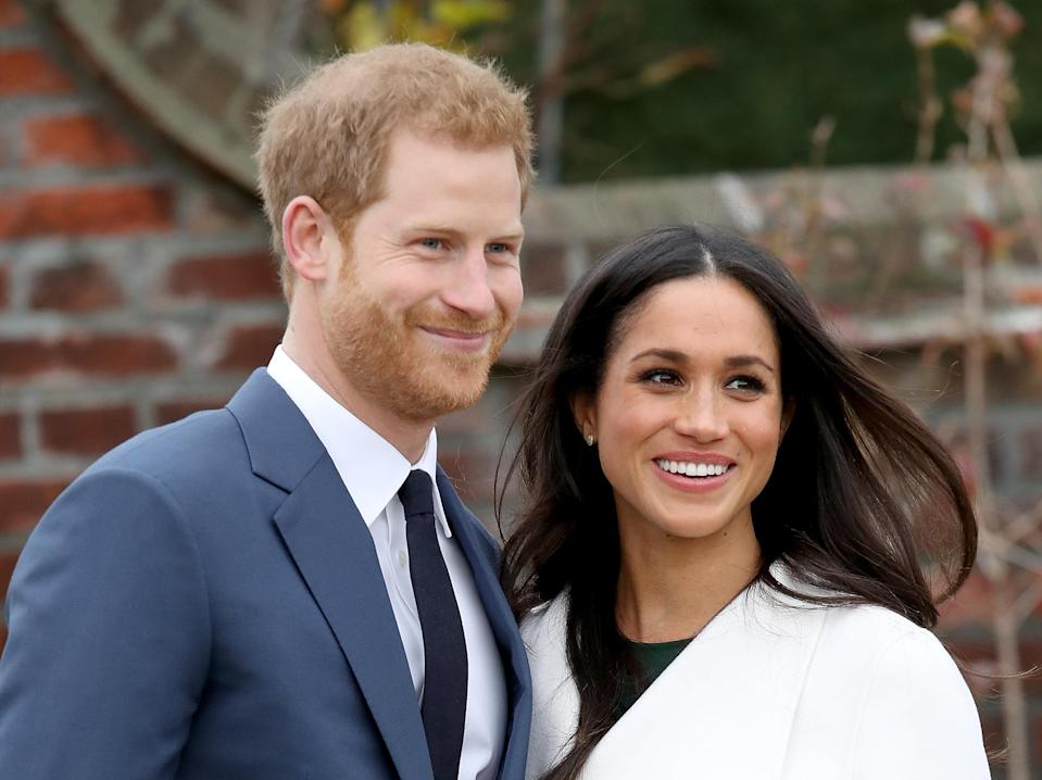 Prince Harry and Meghan Markle have posed for their official engagement photos [Photo: Getty]