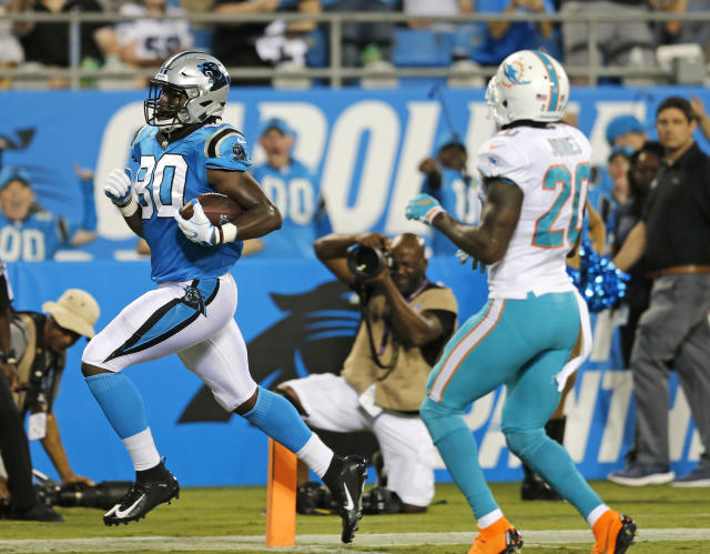 Carolina will need Ian Thomas to step up while Greg Olsen is sidelined. (AP Photo/Nell Redmond)