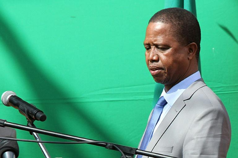 President Edgar Lungu, pictured in July 2017, has targeted the mining sector to generate tax revenue as Zambia struggles with growing debt