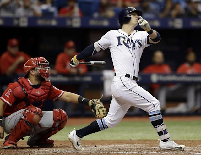 "Advanced stats suggest <a class=""link rapid-noclick-resp"" href=""/mlb/players/9438/"" data-ylk=""slk:Corey Dickerson"">Corey Dickerson</a> is someone you should try to trade before he regresses. (AP Photo/Chris O'Meara)"
