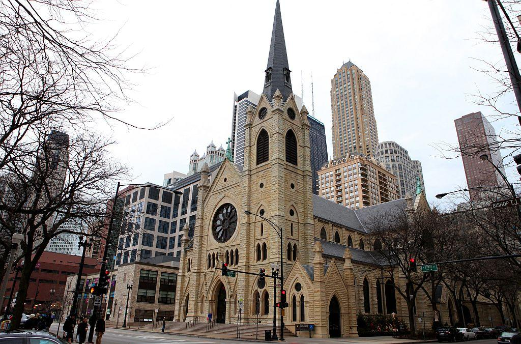 Holy Name Cathedral in Chicago, Illinois, United States.
