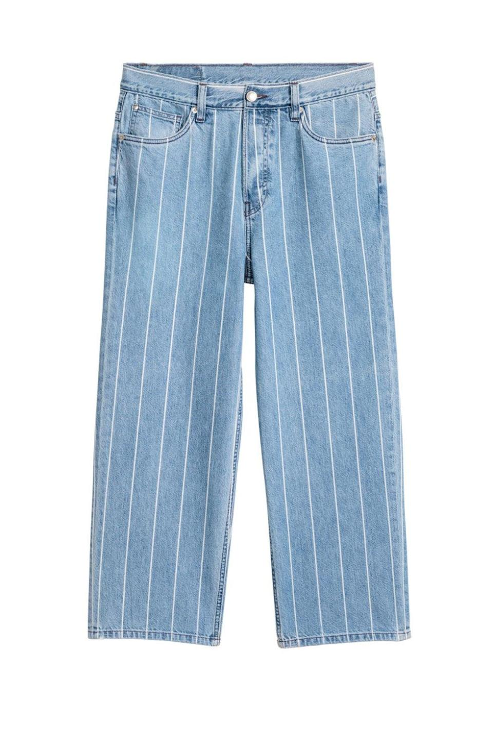"""<p>From the high-street behemoth's unisex collection, these are skater-ish and pinstriped and made for hanging off one's hips. </p><p><strong>BUY IT:</strong> H&M, $40; <a href=""""http://www.hm.com/us/product/62360?article=62360-B"""" rel=""""nofollow noopener"""" target=""""_blank"""" data-ylk=""""slk:hm.com"""" class=""""link rapid-noclick-resp"""">hm.com</a>.</p>"""