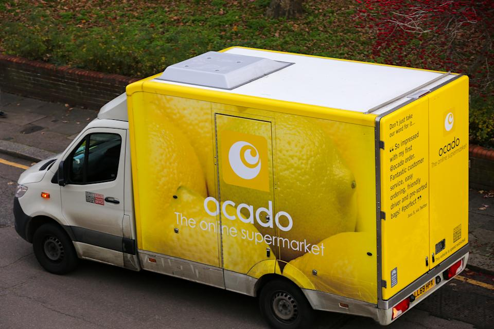 LONDON, UNITED KINGDOM - 2020/11/27: An Ocado delivery van in London. (Photo by Dinendra Haria/SOPA Images/LightRocket via Getty Images)