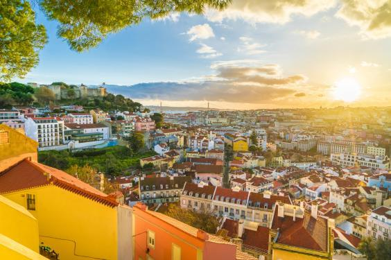 Sunset in Lisbon, Portugual (istock)