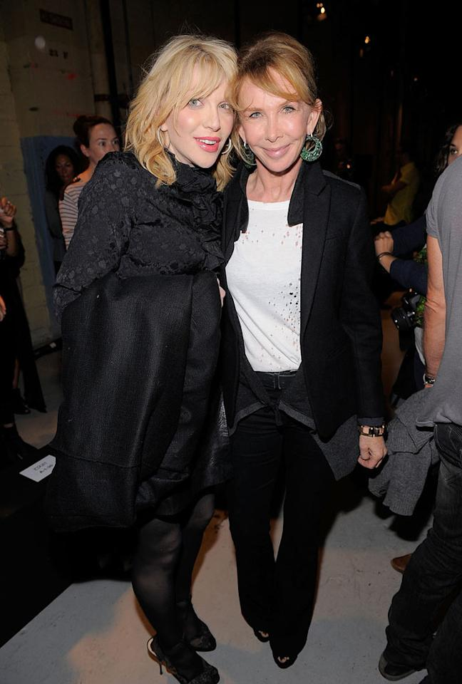 """The eccentric Courtney Love and Sting's wife, Trudie Styler, were among the rocker crowd at Edun, the label founded by Bono and his wife, Ali Hewson. Love, who's normally a hot mess, actually saved the day recently: The Hole frontwoman and her band stepped in as performers at a pre-Fashion Week party Tuesday after Motley Crue's Vince Neil canceled at the last minute. Jemal Countess/<a href=""""http://www.gettyimages.com/"""" target=""""new"""">GettyImages.com</a> - September 11, 2011"""