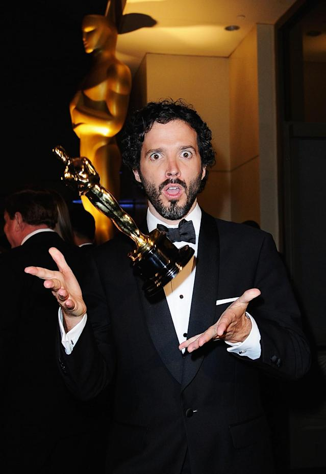 HOLLYWOOD, CA – FEBRUARY 26: Songwriter Bret McKenzie winner of the Best Original Song Award for 'Man or Muppet' from 'The Muppets,' attends the 84th Annual Academy Awards Governors Ball held at the Hollywood & Highland Center on February 26, 2012 in Hollywood, California. (Photo by Kevork Djansezian/Getty Images)
