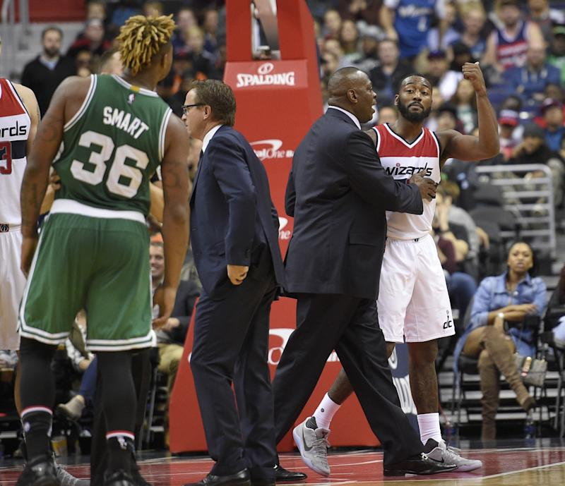 67bd80da5245 John Wall and Marcus Smart played big roles in Celtics vs. Wizards becoming  one of
