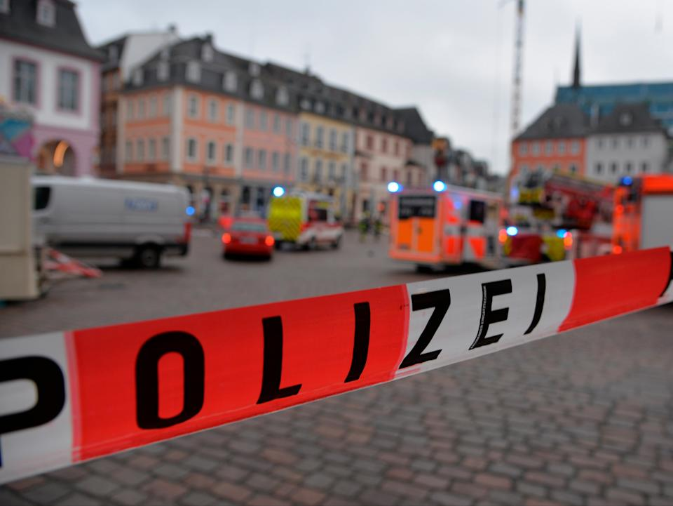 <p>The site of the crash was quickly cordoned off by police</p>AP