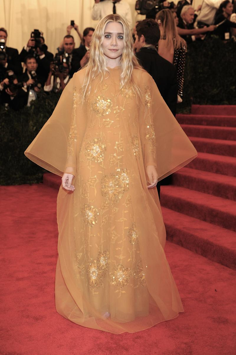 """Ashley Olsen attends the Costume Institute Gala for the """"PUNK: Chaos to Couture"""" exhibition at the Metropolitan Museum of Art on May 6, 2013 in New York City. (Photo by Rabbani and Solimene Photography/WireImage)"""