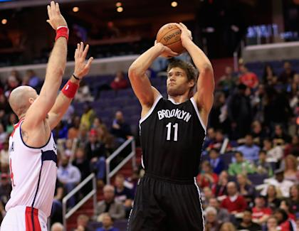 Brook Lopez averaged 17.2 points and 7.4 rebounds per game this past season. (Getty)