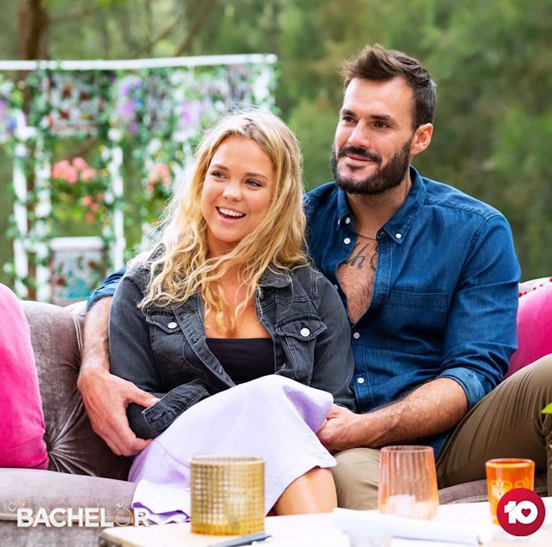 Locky Gilbert and Bel Colwell on The Bachelor Australia 2020