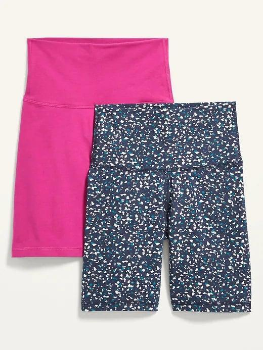 <p>Add two more pairs to your collection with any of four <span>Old Navy Extra High-Waisted Biker Shorts 2-Pack -- 8-inch inseam</span> ($11-$13, originally $30) options now on sale.</p>