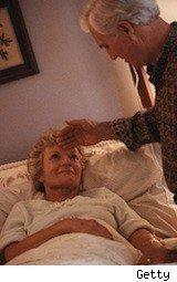 grandmother being cared for - caregivers