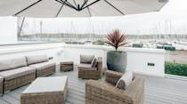 """<p>Straight out of a Bond movie, this swanky holiday home is unlike anythings else on the south coast. It's designed to make you feel like you're on a superyacht, flooded with natural light, featuring a large curved sofa in the living room and boasting nautical touches.</p><p>The unique villa can host up to 14 people for a luxe, laidback stay, so it's one worth checking out if you're planning to entertain a group. Its crowd-pleasing, curved kitchen and sleek bar are perfect for whipping up a round of cocktails, while outside, the private deck is great for sundown drinks and watching the boats pass in and out of Port Hamble. There's also a bubbling Jacuzzi and fully-equipped gym.</p><p><strong>Sleeps: </strong>14</p><p><strong>Available from:</strong> <a href=""""https://go.redirectingat.com?id=127X1599956&url=https%3A%2F%2Fwww.plumguide.com%2Fhomes%2F31232%2Focean-vessel&sref=https%3A%2F%2Fwww.menshealth.com%2Fuk%2Fadventure%2Fg36954308%2Funique-places-to-stay-uk%2F"""" rel=""""nofollow noopener"""" target=""""_blank"""" data-ylk=""""slk:Plum Guide"""" class=""""link rapid-noclick-resp"""">Plum Guide</a></p><p><strong>Price:</strong> Two nights from £2,941</p><p><a class=""""link rapid-noclick-resp"""" href=""""https://go.redirectingat.com?id=127X1599956&url=https%3A%2F%2Fwww.plumguide.com%2Fhomes%2F31232%2Focean-vessel&sref=https%3A%2F%2Fwww.menshealth.com%2Fuk%2Fadventure%2Fg36954308%2Funique-places-to-stay-uk%2F"""" rel=""""nofollow noopener"""" target=""""_blank"""" data-ylk=""""slk:CHECK AVAILABILITY"""">CHECK AVAILABILITY</a></p>"""