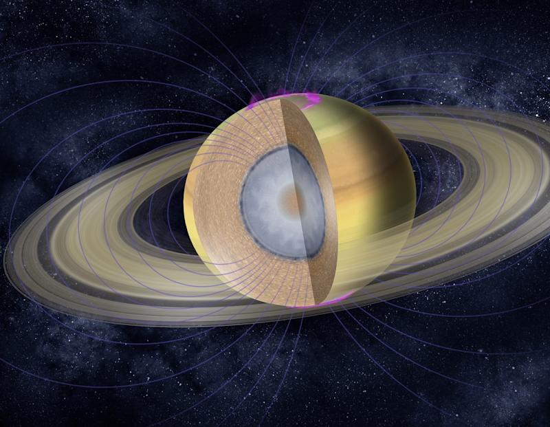 saturn interior layers metallic hydrogen rocky core nasa jpl caltech