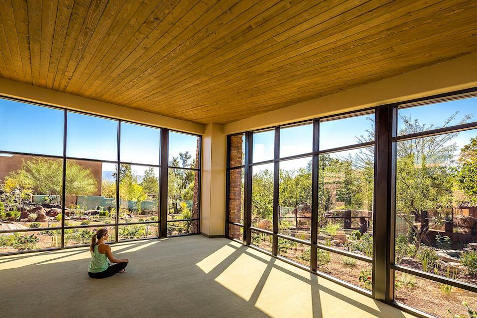 """<p>At the city's <a href=""""http://www.canyonranchdestinations.com/tucson/"""" rel=""""nofollow noopener"""" target=""""_blank"""" data-ylk=""""slk:Canyon Ranch"""" class=""""link rapid-noclick-resp"""">Canyon Ranch</a> spa outpost, you and your friends can tackle a challenging high ropes course as a team and enjoy inspired acupuncture as you revitalize under the warm embrace of crisp, refreshing dessert air. And forget blah spa food — with hits like wild mushroom fricassee and crab-stuffed Anaheim peppers, your palates will be as pleased as your rejuvenated minds. If you need to, slink away from the group to the spiritual wellness center, where you can spend some time focusing on reconnecting with yourself.</p><p><strong><em>For more information, visit </em></strong><a href=""""http://www.canyonranchdestinations.com/tucson/"""" rel=""""nofollow noopener"""" target=""""_blank"""" data-ylk=""""slk:canyonranchdestinations.com/tuscon"""" class=""""link rapid-noclick-resp""""><strong><em>canyonranchdestinations.com/tuscon</em></strong></a><strong><em>.</em></strong></p>"""