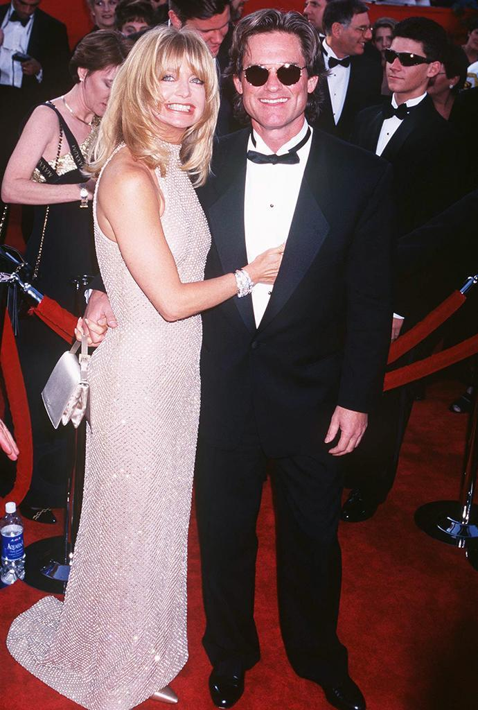 <p>Hawn presented with her 'First Wives Club' co-stars. (Photo by Jeffrey Mayer/WireImage) </p>