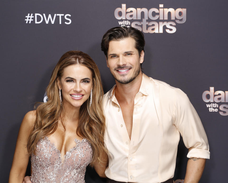 "DANCING WITH THE STARS - ""Double Elimination Night - Use Your Vote!"" - As the show gets closer to its season finale, nine celebrity and pro-dancer couples face double elimination as they compete for this season's eighth week live, MONDAY, NOV. 2 (8:00-10:00 p.m. EST), on ABC. (Kelsey McNeal via Getty Images) CHRISHELL STAUSE, GLEB SAVCHENKO"