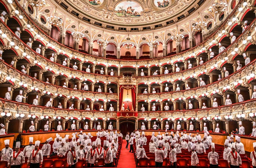 "<p>At theatre Vincenzo Bellini ""Cibo Nostrum 2019"", the second day of the great feast of Italian cuisine to celebrate the culture of food and wine on April 01, 2019 in Catania, Italy. Organized by the Italian Cooks Federation, the 30th National Congress is held in Catania on 31 March, 1, 2 April 2019. (Photo from Fabrizio Villa/Getty Images) </p>"