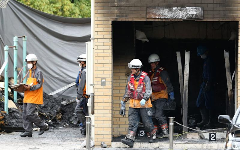 33 people are known to have died in the blaze at an animation studio - AFP