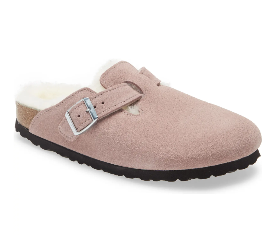 Boston Genuine Shearling Lined Clog. Image via Nordstrom.