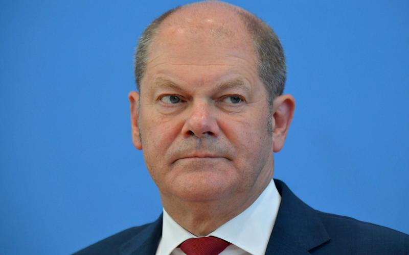 The paper was prepared for German finance minister Olaf Scholz ahead of talks with Sajid Javid in Berlin - AFP