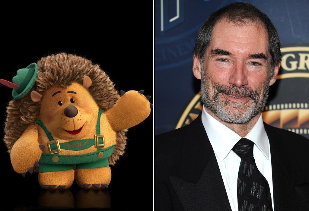 "MR. PRICKLEPANTS/<a href=""http://movies.yahoo.com/movie/contributor/1800014135"">TIMOTHY DALTON</a>  Dalton has performed Shakespeare and played James Bond, but he's never been in an animated movie until ""Toy Story 3"" where he plays a method-acting stuffed hedgehog."