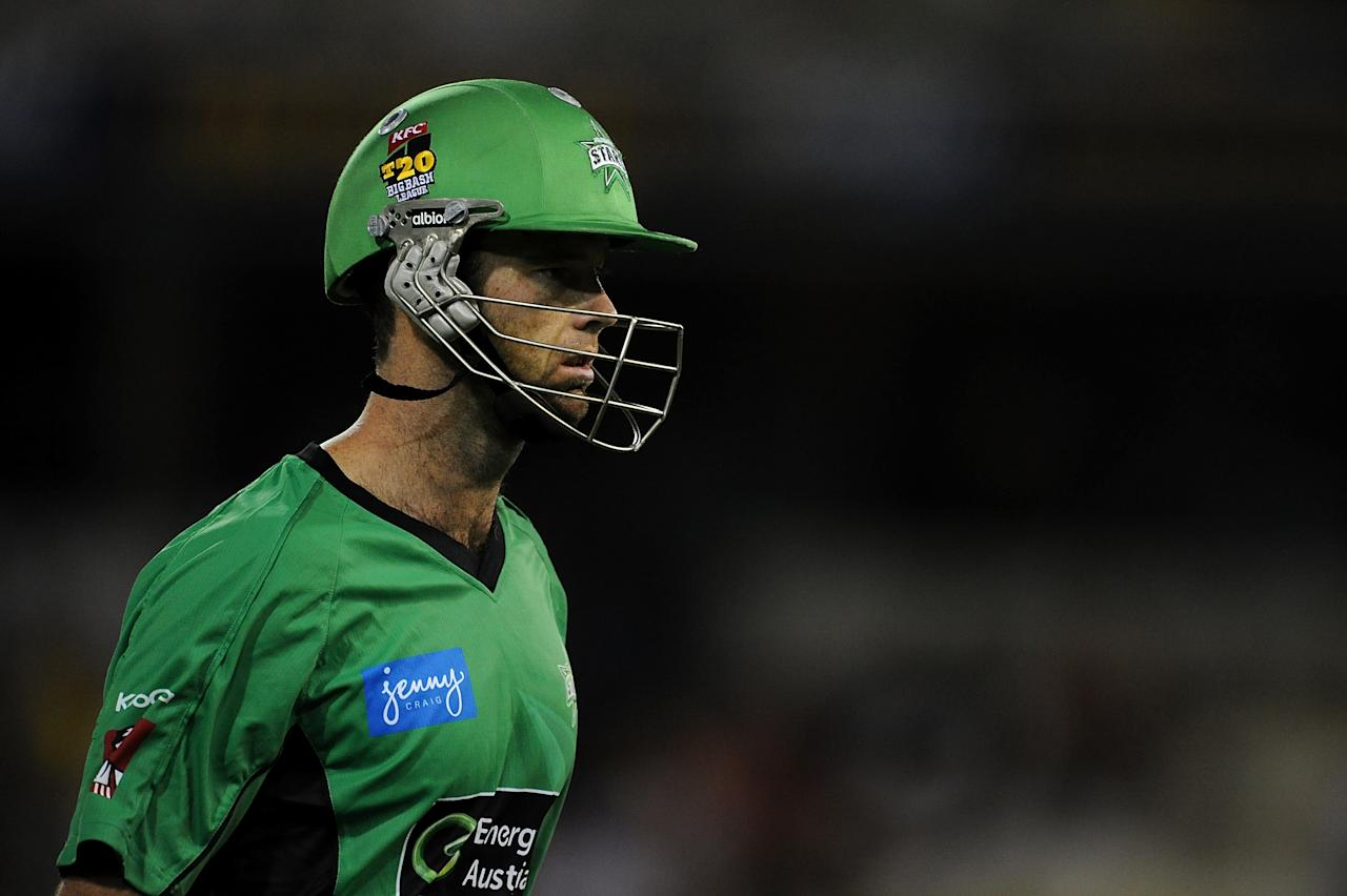 BRISBANE, AUSTRALIA - JANUARY 03:  Rob Quiney of the Stars looks dejected as he leaves the field during the Big Bash League match between the Brisbane Heat and the Melbourne Stars at The Gabba on January 3, 2013 in Brisbane, Australia.  (Photo by Matt Roberts/Getty Images)