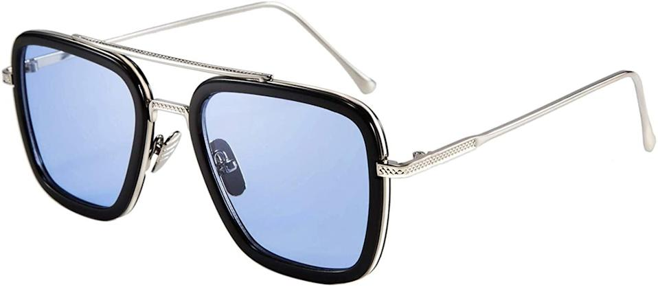 <p>If you love Tony Stark, the <span>FEISEDY Retro Tony Square Sunglasses</span> ($17) are very similar to the one's he wears in <b>Iron Man</b>.</p>