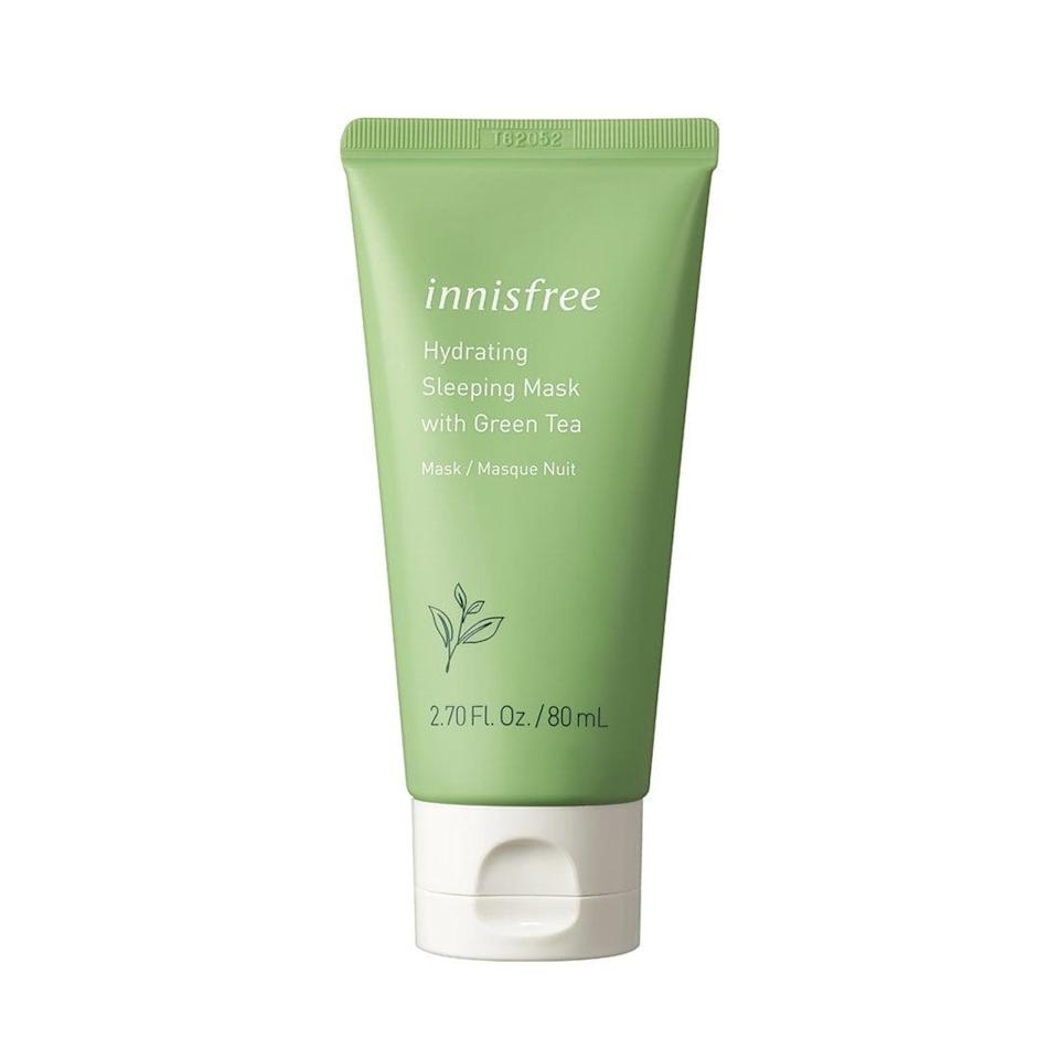 <p>So many people we know are obsessed with this affordable, effective <span>Innisfree Hydrating Sleeping Mask</span> ($20).</p>