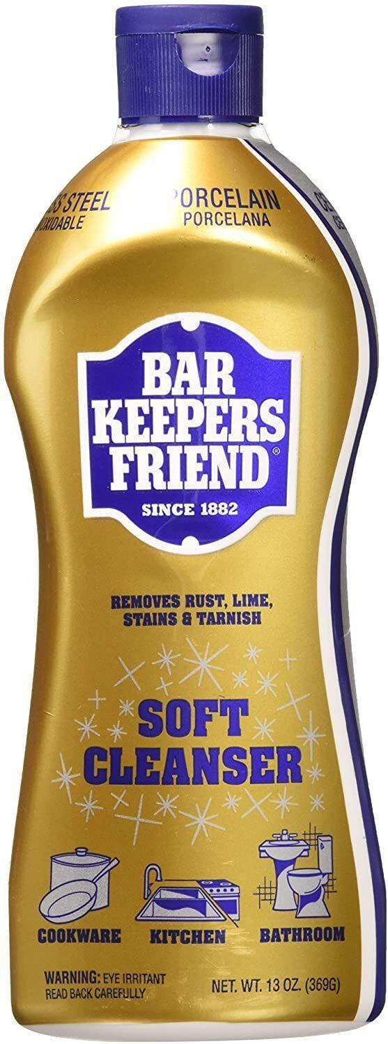"""Itcan remove tarnish, soap scum, rust and hard water deposits with ease. The original formula comes in a powder, but this version is premixed and ready to use!<br /><br /><strong>Promising review:</strong>""""Bar Keepers Friend should really be called 'Homeowner's Magician'! I purchased this cleanser in an attempt to revive our stainless steel knife set, which is a great moderately priced set that has seen better days, and I'm extremely happy that I did.<strong>The cleanser not only took away the rust spots with minimal difficulty, but it returned them to their original luster!</strong>After cleaning our knives, I gave it a shot on our porcelain sink, which I typically have to douse in bleach cleaner to remove the stains from, causing the entire kitchen to be filled with noxious fumes ... and it worked beautifully! The stains came clean, and it made the sink look pretty enough to eat off of."""" —<a href=""""https://www.amazon.com/gp/customer-reviews/R2D97ALM0AWWZF?&linkCode=ll2&tag=huffpost-bfsyndication-20&linkId=38fd91b2ab0b8f1f94496000f60985e4&language=en_US&ref_=as_li_ss_tl"""" target=""""_blank"""" rel=""""noopener noreferrer"""">Kat Ferrari</a><br /><br /><strong><a href=""""https://www.amazon.com/dp/B00B28ZYPU?&linkCode=ll1&tag=huffpost-bfsyndication-20&linkId=0a18c46f6d86cd990fff29f78c3c7981&language=en_US&ref_=as_li_ss_tl"""" target=""""_blank"""" rel=""""noopener noreferrer"""">Get a pack of two from Amazon for $16.30.</a></strong>"""