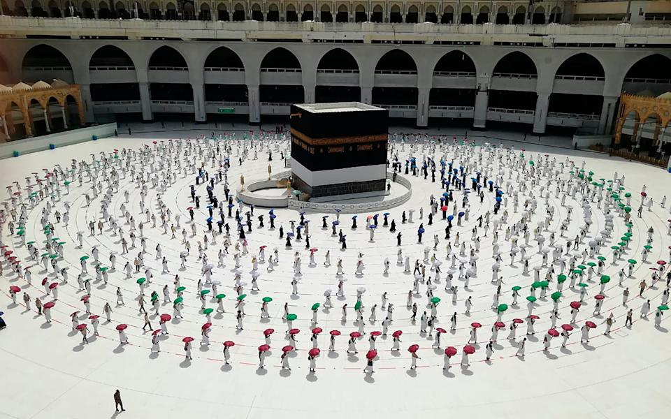 The usual Hajj crowds have gone