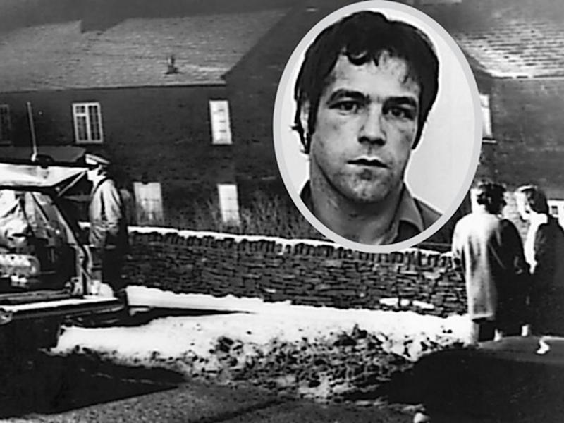 In the 1977 Pottery Cottage murders, Billy Hughes (inset) butchered a family in Eastmoor, near Baslow in Derbyshire (Derby Telegraph)