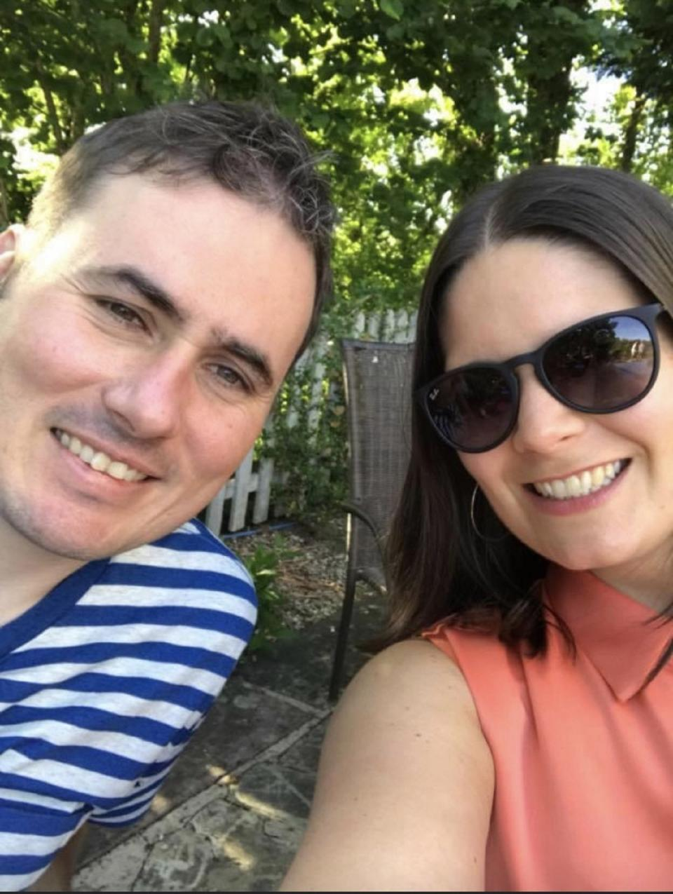 Jennifer – who was diagnosed with the cancer Hodgkin's lymphoma in 2016 – plans to continue shielding, along with her husband and full-time carer. (Supplied: Anthony Nolan)