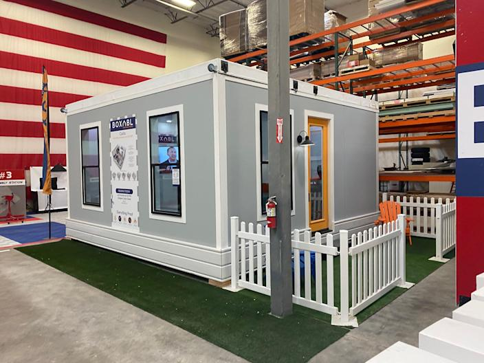 The exterior of the Casita in a manufacturing space