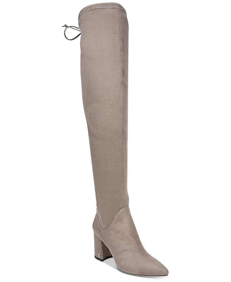 """<p>You can wear these <a href=""""https://www.popsugar.com/buy/Circus-Sam-Edelman-Hanover-Boots-491296?p_name=Circus%20by%20Sam%20Edelman%20Hanover%20Boots&retailer=macys.com&pid=491296&price=109&evar1=fab%3Aus&evar9=46625527&evar98=https%3A%2F%2Fwww.popsugar.com%2Ffashion%2Fphoto-gallery%2F46625527%2Fimage%2F46625702%2FCircus-by-Sam-Edelman-Hanover-Boots&list1=shopping%2Cfall%20fashion%2Cshoes%2Cboots%2Cfall%2Cmacys&prop13=mobile&pdata=1"""" rel=""""nofollow"""" data-shoppable-link=""""1"""" target=""""_blank"""" class=""""ga-track"""" data-ga-category=""""Related"""" data-ga-label=""""https://www.macys.com/shop/product/circus-by-sam-edelman-hanover-boots?ID=10129919&amp;CategoryID=25122#fn=sp%3D3%26spc%3D1557%26ruleId%3D105%7CBOOST%20SAVED%20SET%26searchPass%3DmatchNone%26slotId%3D6"""" data-ga-action=""""In-Line Links"""">Circus by Sam Edelman Hanover Boots</a> ($109) with skirts and tights.</p>"""