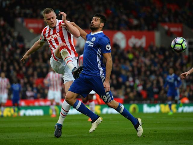 Hughes said Stoke didn't try to rile Costa (Getty)