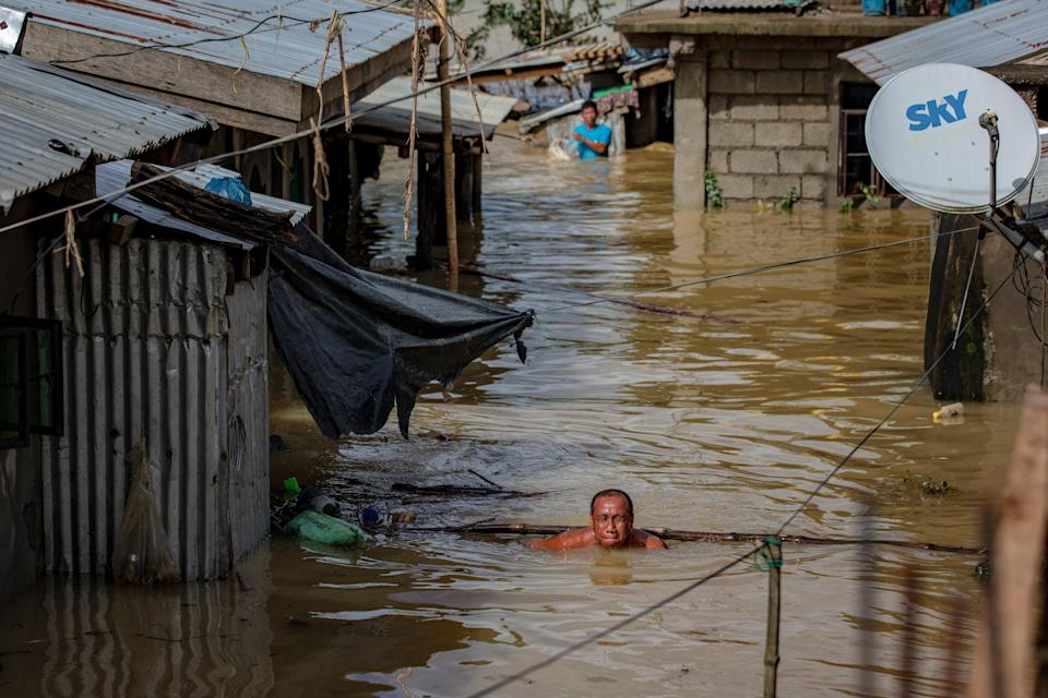 Typhoon Vamco caused death and destruction in the Philippines in 2020 (Getty Images)