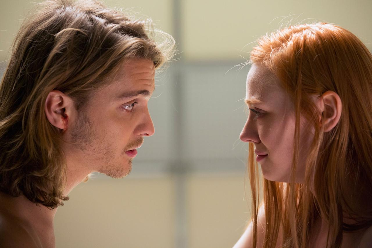 "Luke Grimes and Deborah Ann Woll in the ""True Blood"" Season 6 episode, ""Don't You Feel Me."""