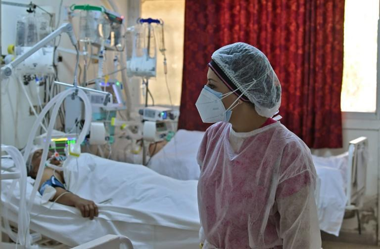Hospitals in Tunisia's hard-hit central region of Kairouan are battling with shortages of oxygen, intensive care beds and nurses to deal with the surge in Covid patients