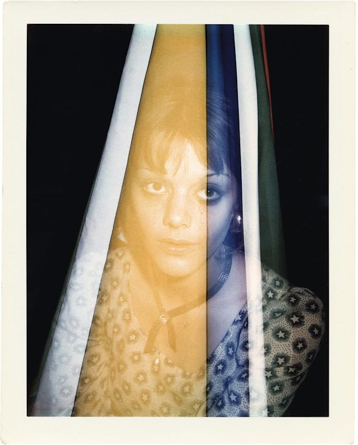 """A portrait of actress Tina Aumont by Brigid Berlin. The artist frequently experimented with double exposure in her Polaroid images. <span class=""""copyright"""">(Brigid Berlin / Reel Art Press)</span>"""
