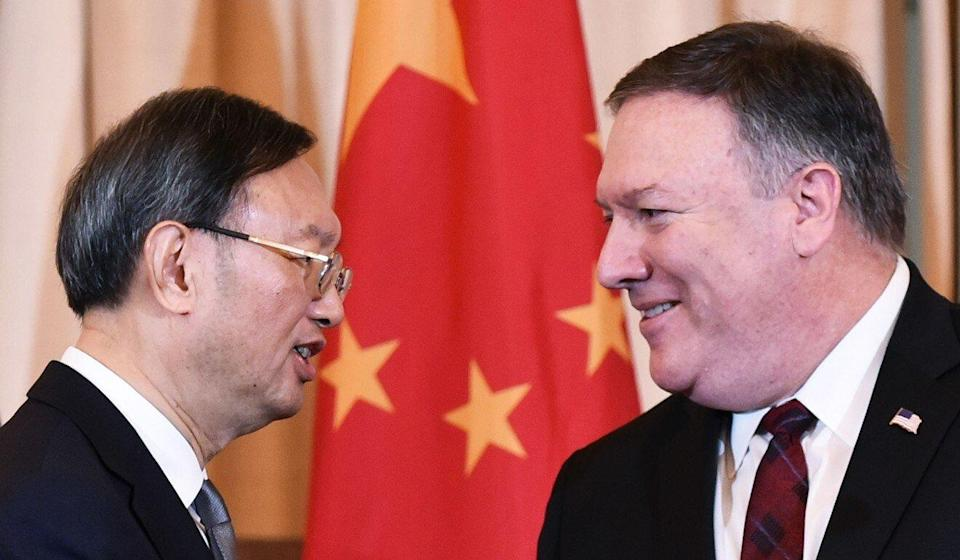Yang Jiechi and Mike Pompeo's last meeting highlighted how far apart the two sides were. Photo: AFP