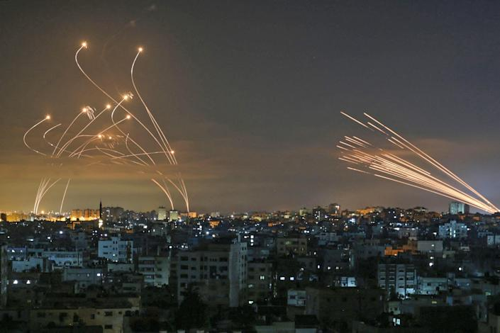 Image: TOPSHOT-PALESTINIAN-ISRAEL-CONFLICT-GAZA (Anas Baba / AFP - Getty Images)